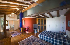 Villa with wooden beams at sight