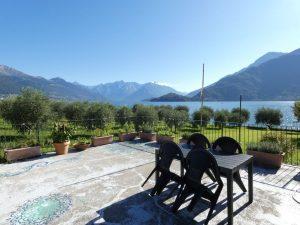 Luxury Villa Front Lake with Dock Pianello del Lario garden