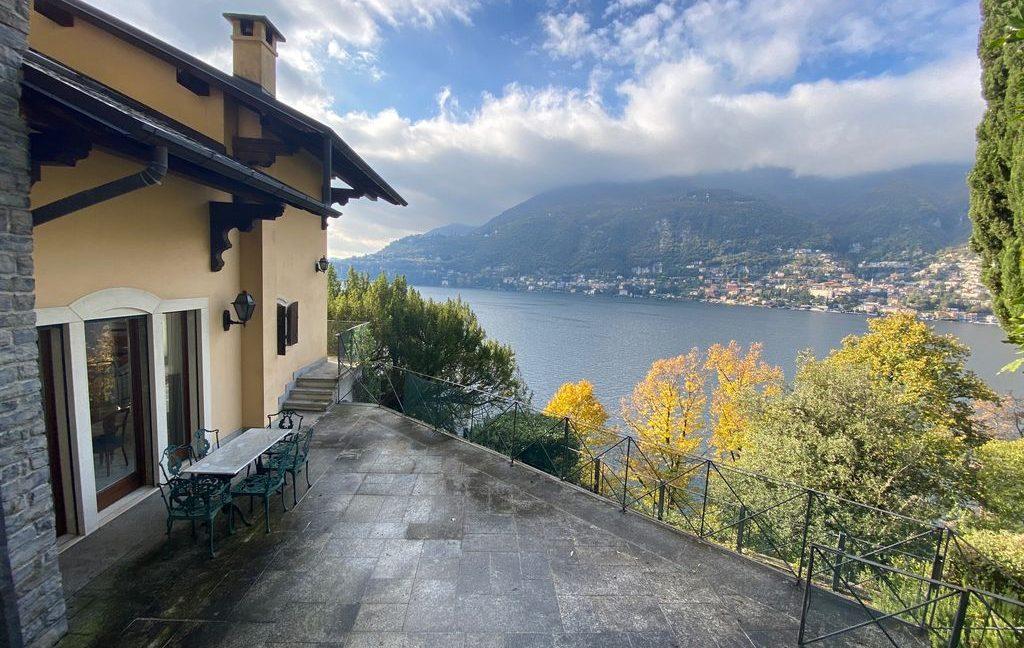 Luxury Villa Lake Como Torno with Boathouse - lake view
