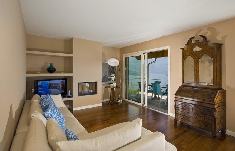 Luxury Villa Lake Como Gravedona ed Uniti with Pool - fireplace