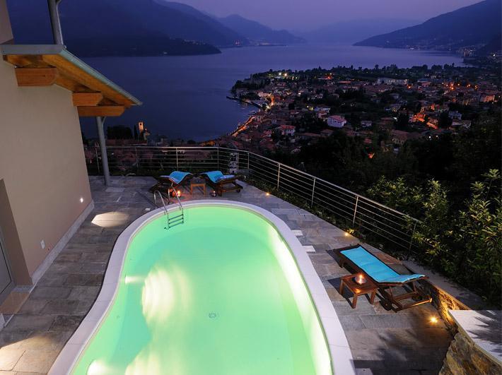 Luxury Villa Lake Como Gravedona ed Uniti with Pool - jacuzzi