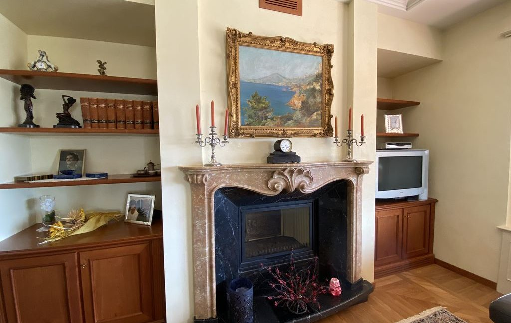 Luxury Villa Lake Como Domaso with Swimming Pool - fireplace