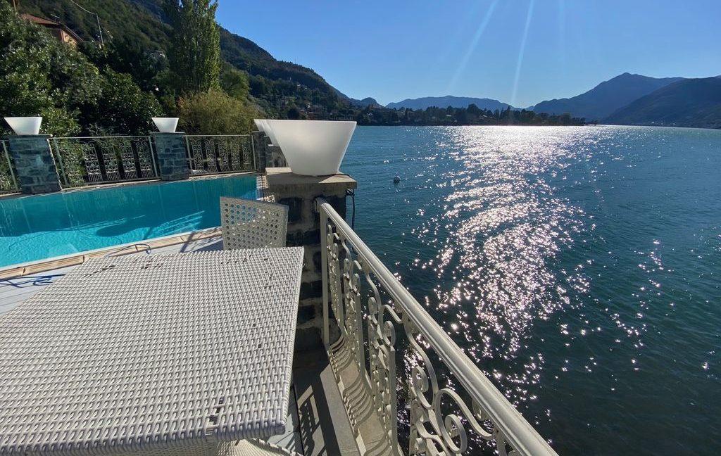 Luxury Villa Front Lake Como Dervio - terrace