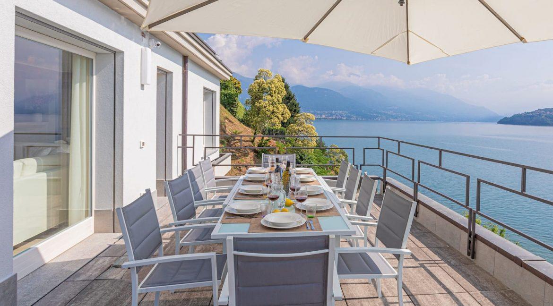 Pianello del Lario Luxury Villa Directly on Lake Como -terace