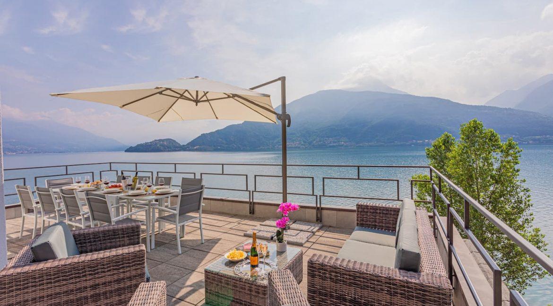 Pianello del Lario Luxury Villa Directly on Lake Como -terrace