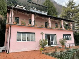 Lake Como Argegno Villa Water Front with Boathouse