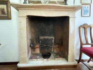Villa Domaso Lake Como - fireplace